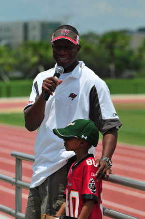 Tampa Bay Buccaneers head coach Raheem Morris 2009 LFG Football Camp 